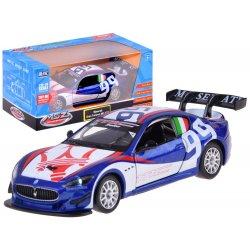 Sportinė metalinė mašinėlė 1:32 su šviesomis ir garsais
