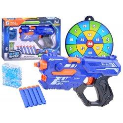 Mėlynas pistoletas su taikiniu