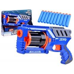 Mėlynas pistoletas su šoviniais