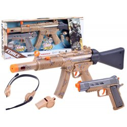 Automato ir pistoleto komplektas su priedais