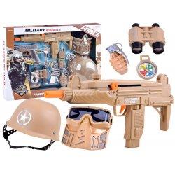 Kareivėlio rinkinys su uniforma ir šautuvu bei priedais