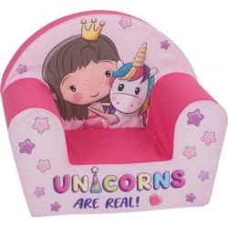 Rožinis foteliukas su princese ir poniu