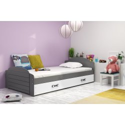 "Pilka viengulė lova su stalčiumi ""Lili"""