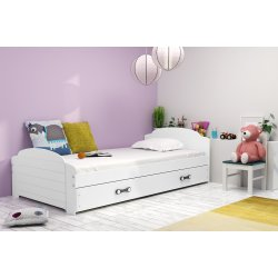 "Balta viengulė lova su stalčiumi - ""Lili"""