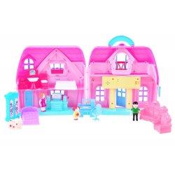 """Rožinis lėlių namelis su priedais """"Sweet home"""""""