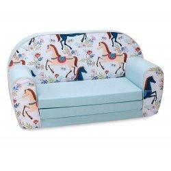 "Minkšta išsiskleidžianti sofa - ""Arkliukai"""