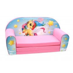 """Rožinė sofa - """"Spindintis ponis"""""""