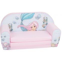 """Švelniai rožinės spalvos sofa - """"Undinėlė"""""""