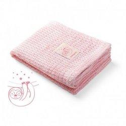 Rožinis bambukinis pledas