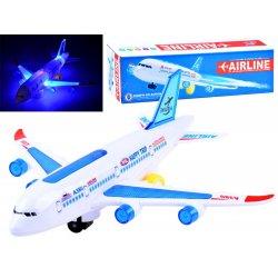 Keleivinis vaikiškas lėktuvas su garsais ir šviesomis