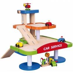 Didelis garažas - parkavimosirinkinys su mašinėlėmis