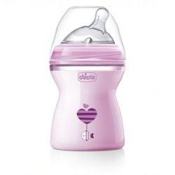 """Rožinis Chicco buteliukas - """"Drum"""" 2 mėn."""