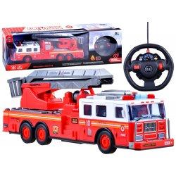 Raudonas RC sunkvežimis - gelbėjimo kranas