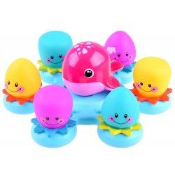 Banginių ir aštuonkojų vonios žaislai