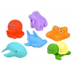 Minkštų jūros gyvūnų rinkinys voniai 6 vnt.
