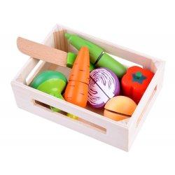 """Pjaustomų daržovių komplektas su dėžute - """"Velcro"""""""