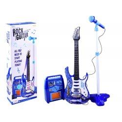 Elektrinė gitara + mikrofonas + stiprintuvas