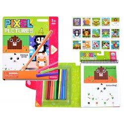 Edukacinė spalvinimo knygutė - pikseliai