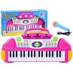 Multifunkcinis pianinas su mikrofonu