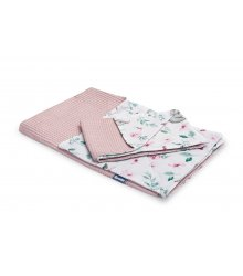 """Rožinis patalynės komplektas - """"Gėlytės"""" 100x135 cm"""