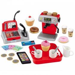 Kavos ir kasos aparatas su priedais