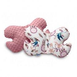 Rožinė pagalvėlė drugelis 26x36 cm