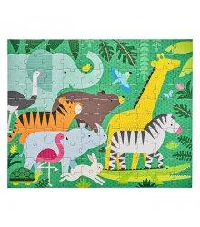 """Petit Collage kelioninė dvipusė dėlionė """"Džiunglės"""""""