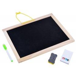 Medinė - magnetinė piešimo lenta su priedais
