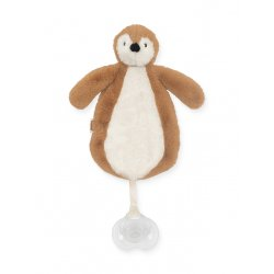 """Žaisliukas segamas prie čiulptuko """"Pingvinas"""" (rudas)"""