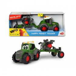 Traktorius su šieno vartytuvu