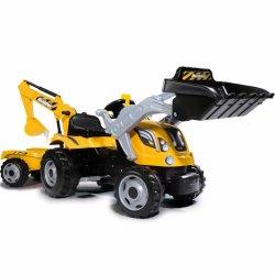 Minamas vaikiškas traktorius - ekskavatorius
