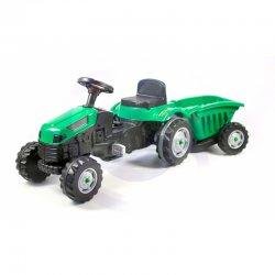 WOOPIE žalias minamas traktorius su priekaba