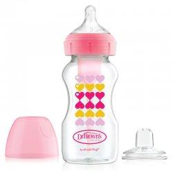 Dr. Brown's buteliukas su papildomu snapeliu, rožinis 270 ml