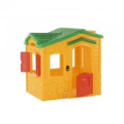 Geltonas lauko žaidimų namukas