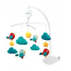 Muzikinė karuselė su debesėliais ir paukšteliais