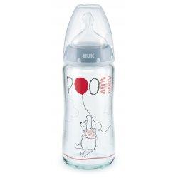 Stiklinis buteliukas - Pooh 0-6 mėn / 240 ml