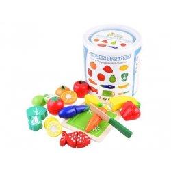 Medinis vaisių ir daržovių pjaustymo rinkinys