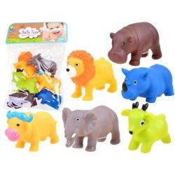 Guminiai Safari gyvūnai (6 vnt.)