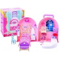 Nešiojamas lėlių namelis /lagaminas
