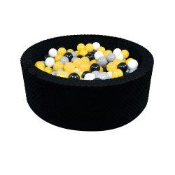 Juodas kamuoliukų baseinas / 90x30 cm