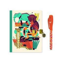 Djeco dienoraštis su užraktu ir rašikliu - Gyvūnai