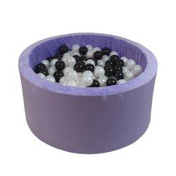 Violetinės spalvos kamuoliukų baseinas 150 vnt. / 90x40 cm