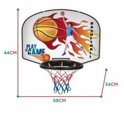 WOOPIE nešiojamas krepšinio lankas su kamuoliu