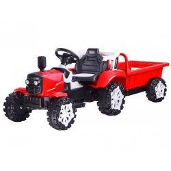 Mažojo ūkininko traktorius su priekaba (raudonas)