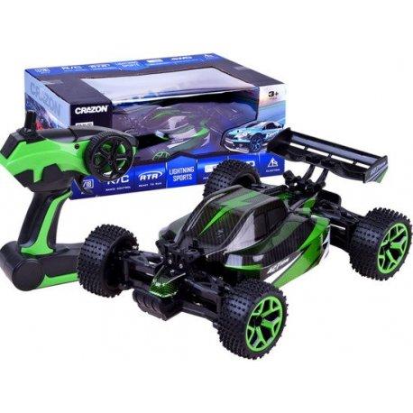 RC Buggy racer automobilis su keturiais varomais ratais (žalias)