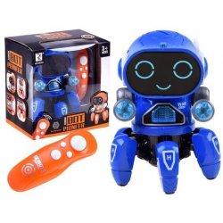 RC šokantis ir šviečiantis robotukas (mėlynas)