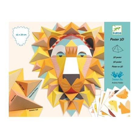 """3D paveikslo gaminimo rinkinys ,,Liūtas karalius"""""""