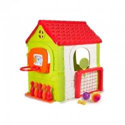 Vaikiškas sodo namelis su žaidimų aikštele
