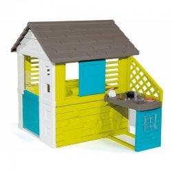Gražus didelis sodo žaidimų namelis su virtuve