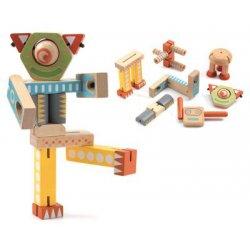 """Djeco medinės kaladėlės ,,Robotukai"""""""